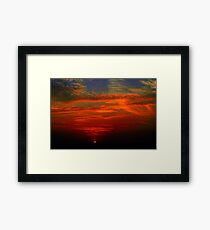 Dramatic red sunset Framed Print