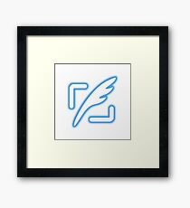Tweet button - Twitter followers Framed Print