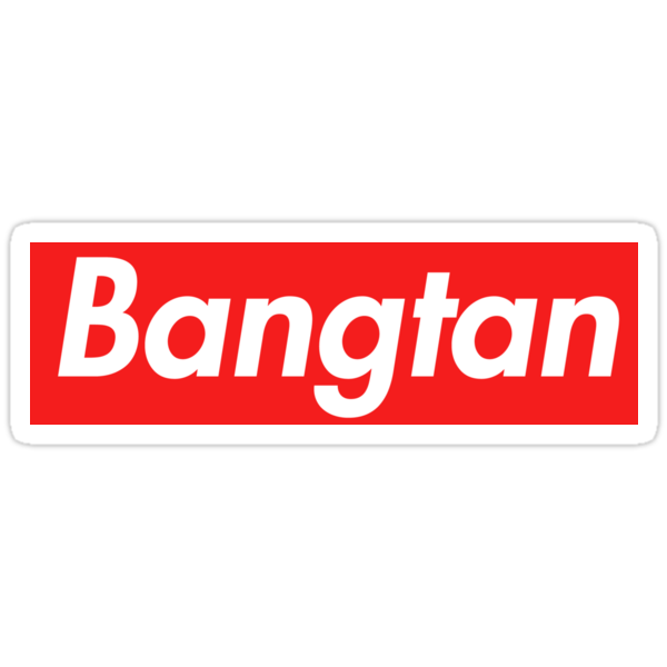 """""""Supreme Bangtan"""" Stickers By Bangtanstyle 