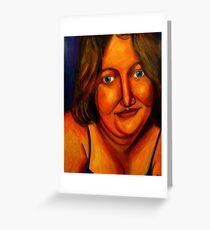 Full Figured Woman Miranda Greeting Card