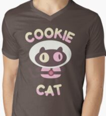 Cookie Cat Men's V-Neck T-Shirt