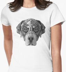 Ornate Rottweiler Womens Fitted T-Shirt