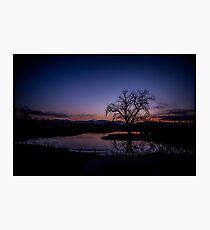 Sunset Golf Photographic Print
