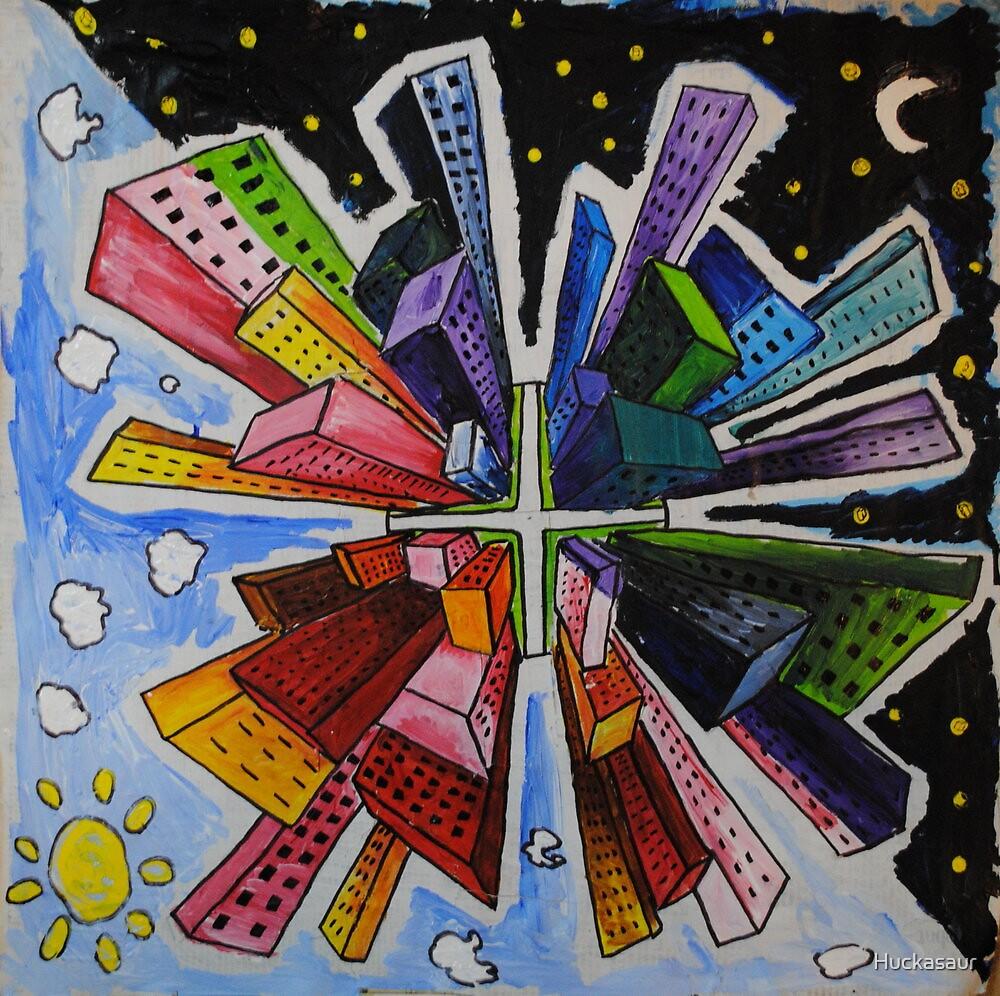 Small World; Big City. by Huckasaur