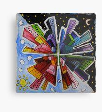 Small World; Big City. Metal Print
