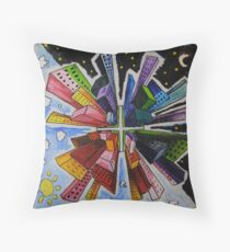 Small World; Big City. Throw Pillow