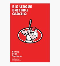 Big League Baseball Classic Poster  Photographic Print