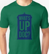What's Up Doc TARDIS - transparent text Unisex T-Shirt