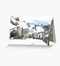 Gold Hill, Shaftesbury Greeting Card