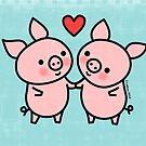 Little Pigs Valentine by zoel