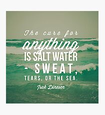 Salt Water Cure Photographic Print