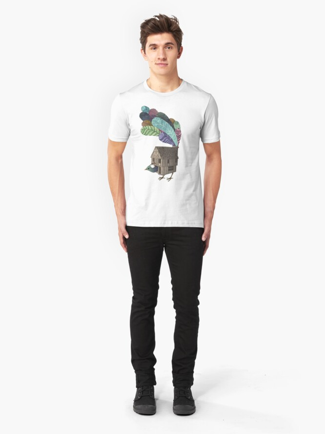Alternate view of Home of peacock Slim Fit T-Shirt