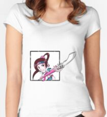 Chibi Seong Mina Women's Fitted Scoop T-Shirt