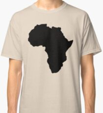 The continent of Africa map of African nation Classic T-Shirt