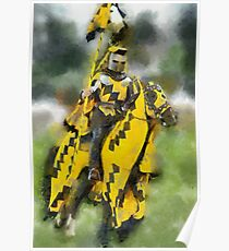 The Yellow Knight, Berkeley Castle, Gloucestershire Poster