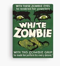 Cool White Zombie Film Poster Canvas Print