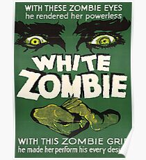 Cool White Zombie Film Poster Poster
