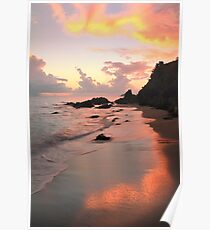 Evening Sky and Island Beach Poster