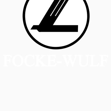 Focke-Wulf Aircraft Logo (White) by warbirdwear