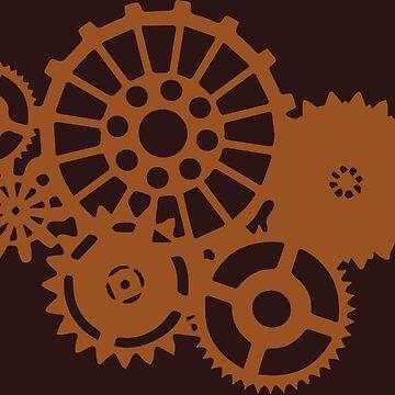 Steampunk Gears by geekerymade