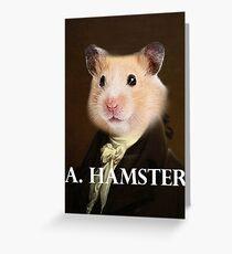 Alexander Hamilton - Hamster Greeting Card