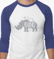 Crazy Rhino Lady Men's Baseball ¾ T-Shirt