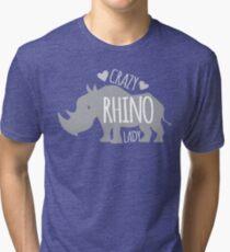 Crazy Rhino Lady Tri-blend T-Shirt