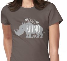 Crazy Rhino Lady Womens Fitted T-Shirt