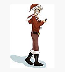 Hipster Santa Photographic Print
