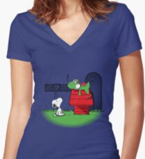 Wrong Doghouse Women's Fitted V-Neck T-Shirt