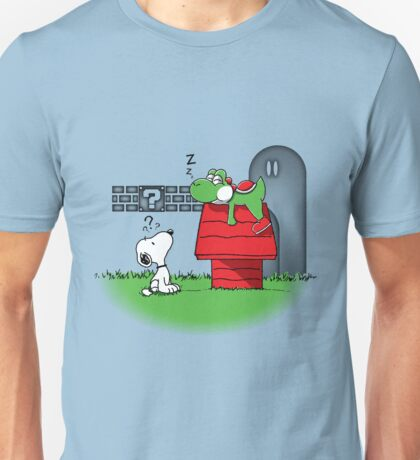 Snoopy Wrong Doghouse Mario T-shirt