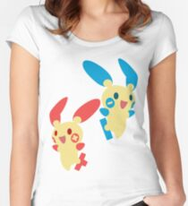 Plusle & Minun Women's Fitted Scoop T-Shirt