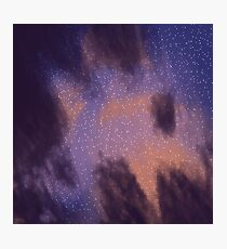 Sunset Space Paint Photographic Print