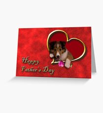 Father's Day Sheltie Greeting Card