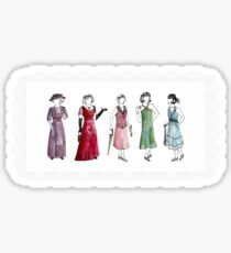 Downton Inspired Fashion Sticker