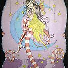 Candy Cane Pixie - Fantasy Art by Concetta Kilmer