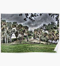 Indian Mound at Fort Pierce Park . Fort Pierce , Florida Poster
