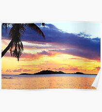 Secret Harbor Sunset Poster