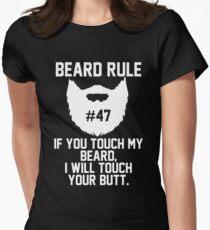 Beard Rule #47 Womens Fitted T-Shirt