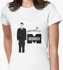 Project Monarch - Bluebird Project - Paper Clip - MK Ultra Women's Fitted T-Shirt
