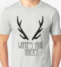 'Where's Your Moose?' SuperNatural Crowley Quote Unisex T-Shirt