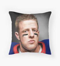 JJ Watt Throw Pillow