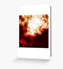 red, rose darkness in midwinter pixel abstration Greeting Card