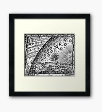 Flammarion - Psychedelic renaissance woodcut Framed Print