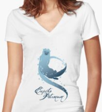 Expecto Patronum! (Otter) Women's Fitted V-Neck T-Shirt
