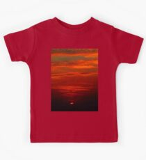 Dramatic red sunset Kids Tee