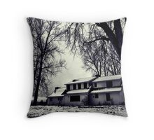 Haunted Casa Throw Pillow