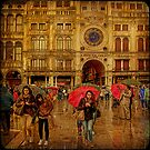 Venice... Piazza di San Marco under rain. by egold