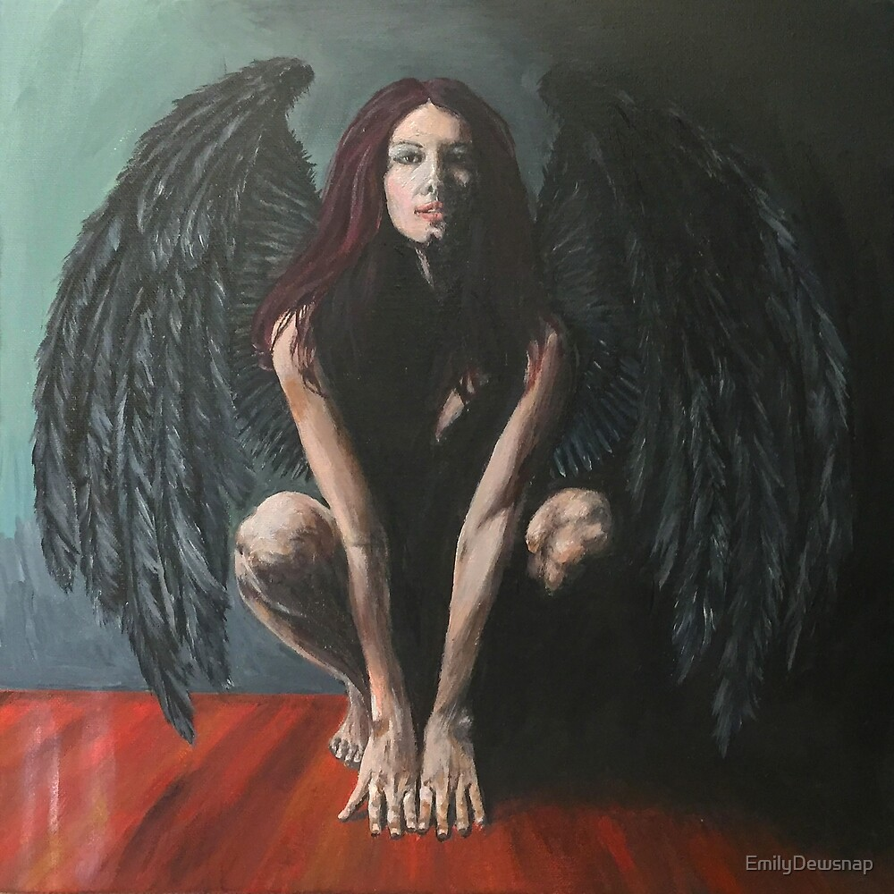 Bringer of Light - Lucifer Painting by EmilyDewsnap