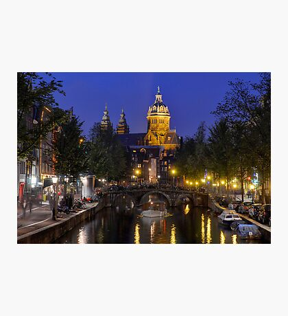Dusk in Amsterdam Photographic Print